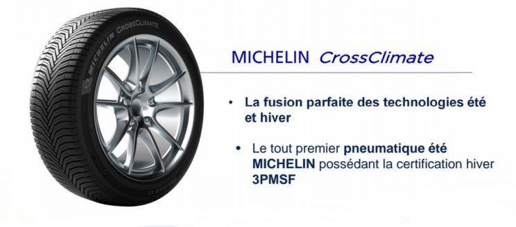 le nouveau pneu michelin crossclimate est en vente. Black Bedroom Furniture Sets. Home Design Ideas