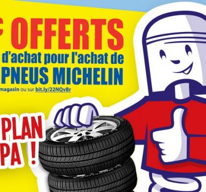 Opération Michelin du 2 au 28 mai 2016