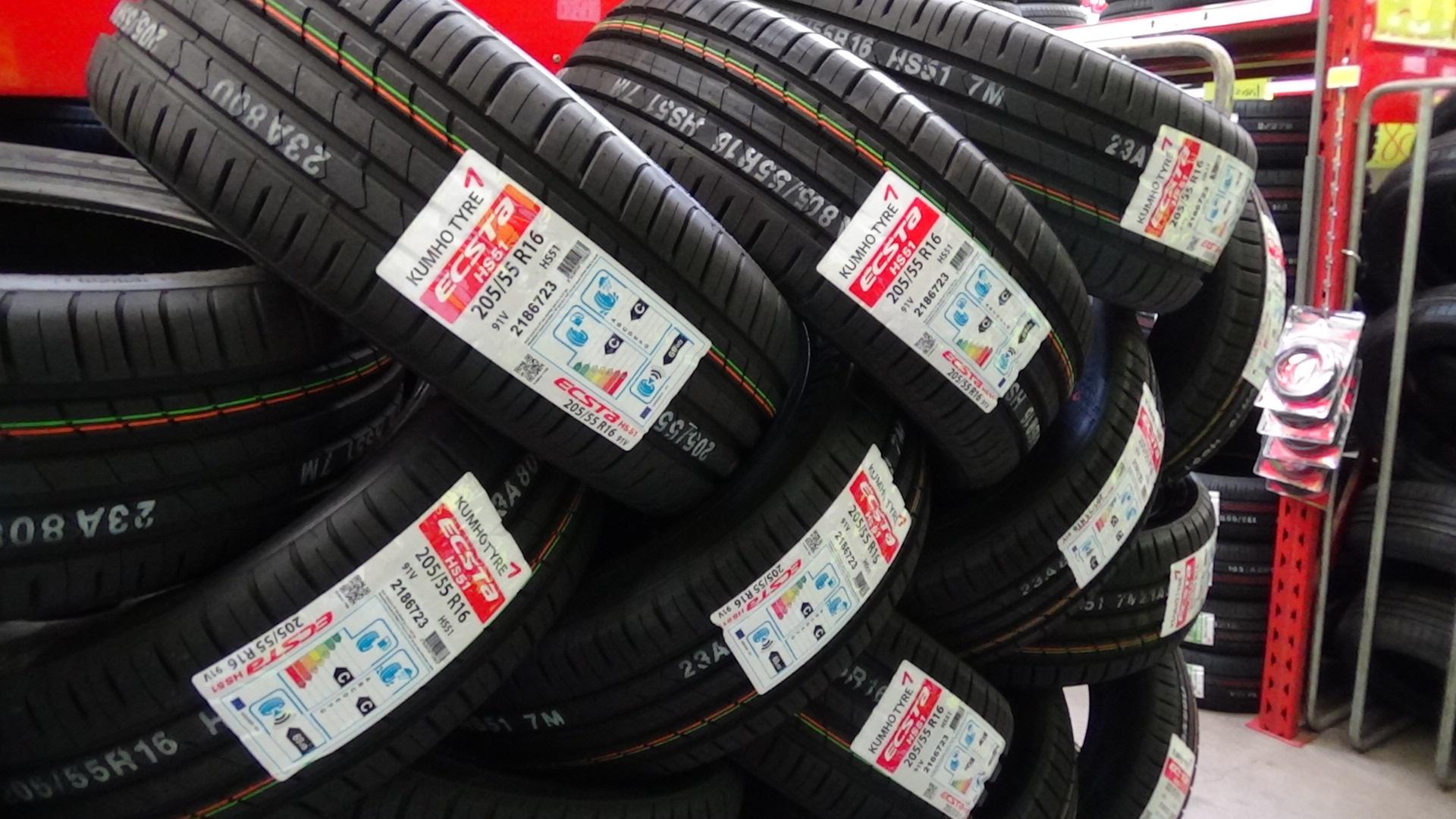 Arrivage de pneus Kumho en magasin