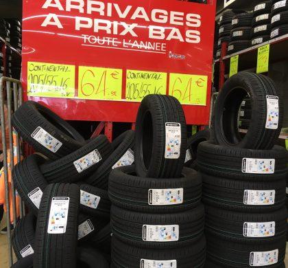 Arrivage de pneus CONTINENTAL en magasin