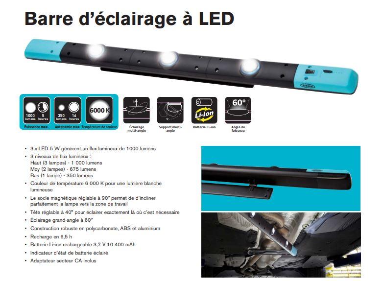 image et caractéristiques de la barre d'éclairage à LED RING
