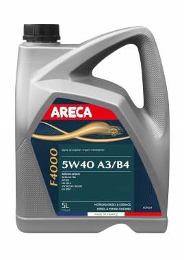 Huile moteur Areca 5W40 (Fortax F4000) 5 litres