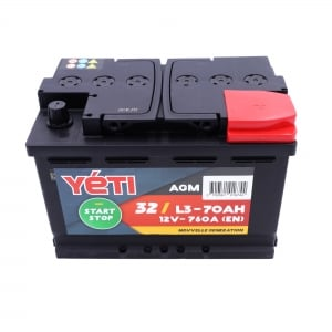 32 - YETIL370AGM BATTERIE 70AH 760A